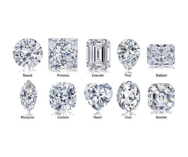 依照鑽石形狀挑選鑽戒