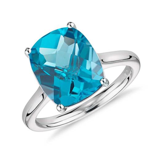 拓帕石鑽石婚戒