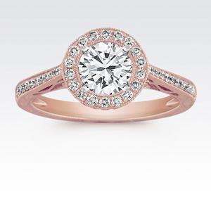 玫瑰金環鑽鑽戒
