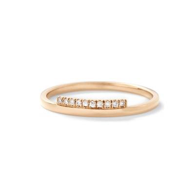 玫瑰金鑽石婚戒