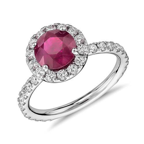 紅寶石環鑽婚戒