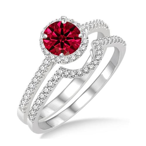 紅寶石鑽石婚戒