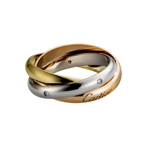 Cartier單鑽三環戒