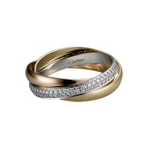Cartier環鑽三環戒