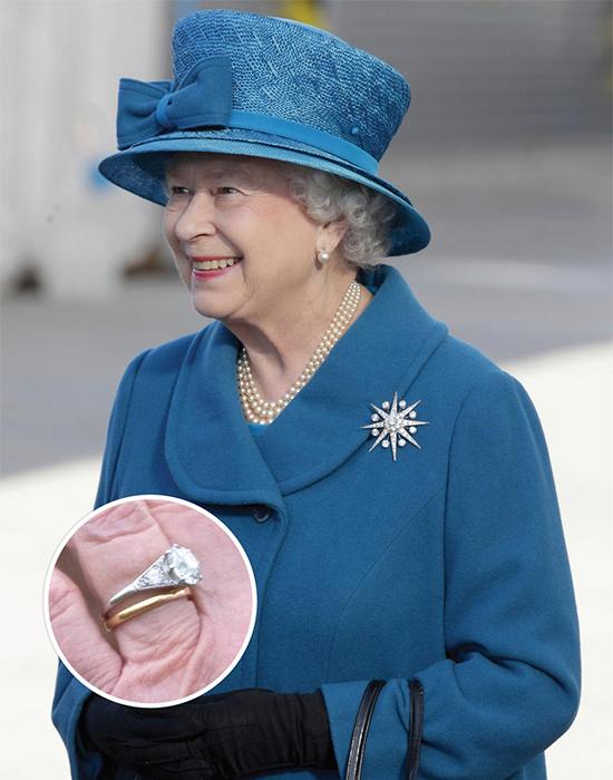 英國女王伊莉莎白二世鑽戒