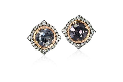IVY New York灰色尖晶石鑽石耳環