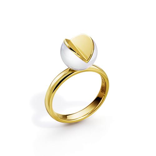 TASAK黃K金I珍珠戒指