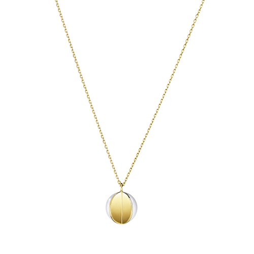 TASAKI WEDGE黃K金珍珠項鍊